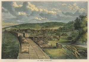 Oil Creek PA, 1864
