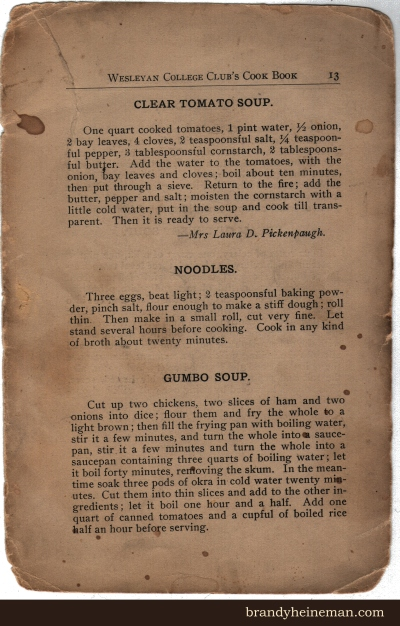 historical soup recipes