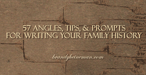 Writing Your Family History