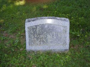 Grave stone for Dick G. Witter (1905-1936) (aka Richard G. Witter, aka Rufus Gardiner Witter)